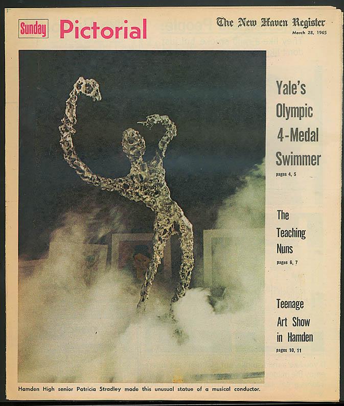 SUNDAY PICTORIAL Don Schollander Sisters of Notre Dame Hamden Teen Art 3/28 1965