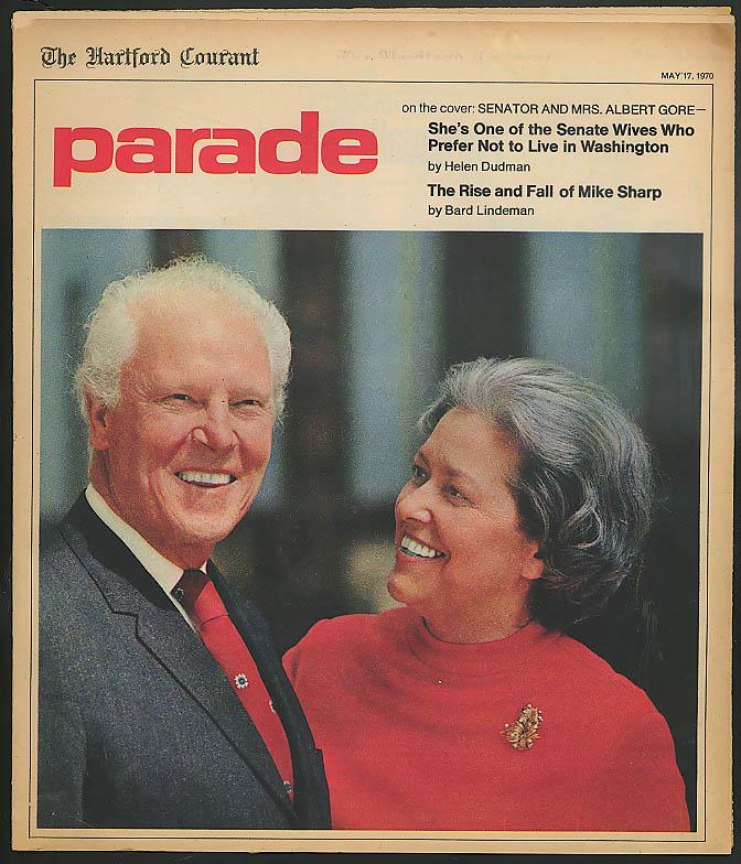 PARADE Viet vet Mike Sharp Sen & Mrs Gore & Senate Wives 5/17 1970