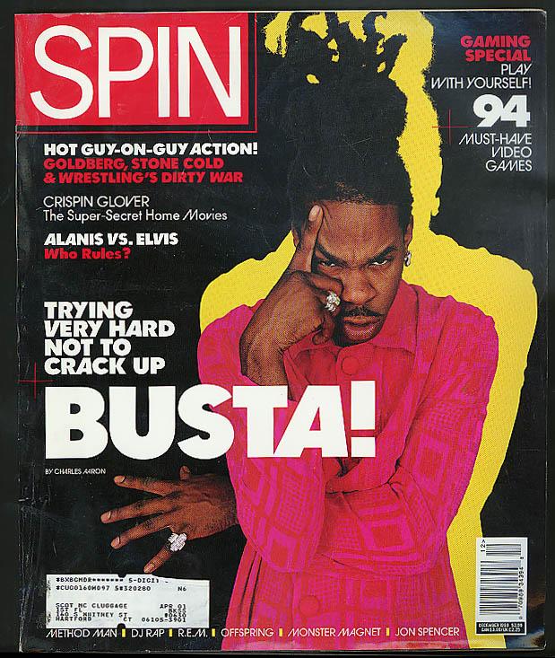 Busta Rhymes Crispin Glover WCW vs WWF DJ Rap Neotropic SPIN 12 1998