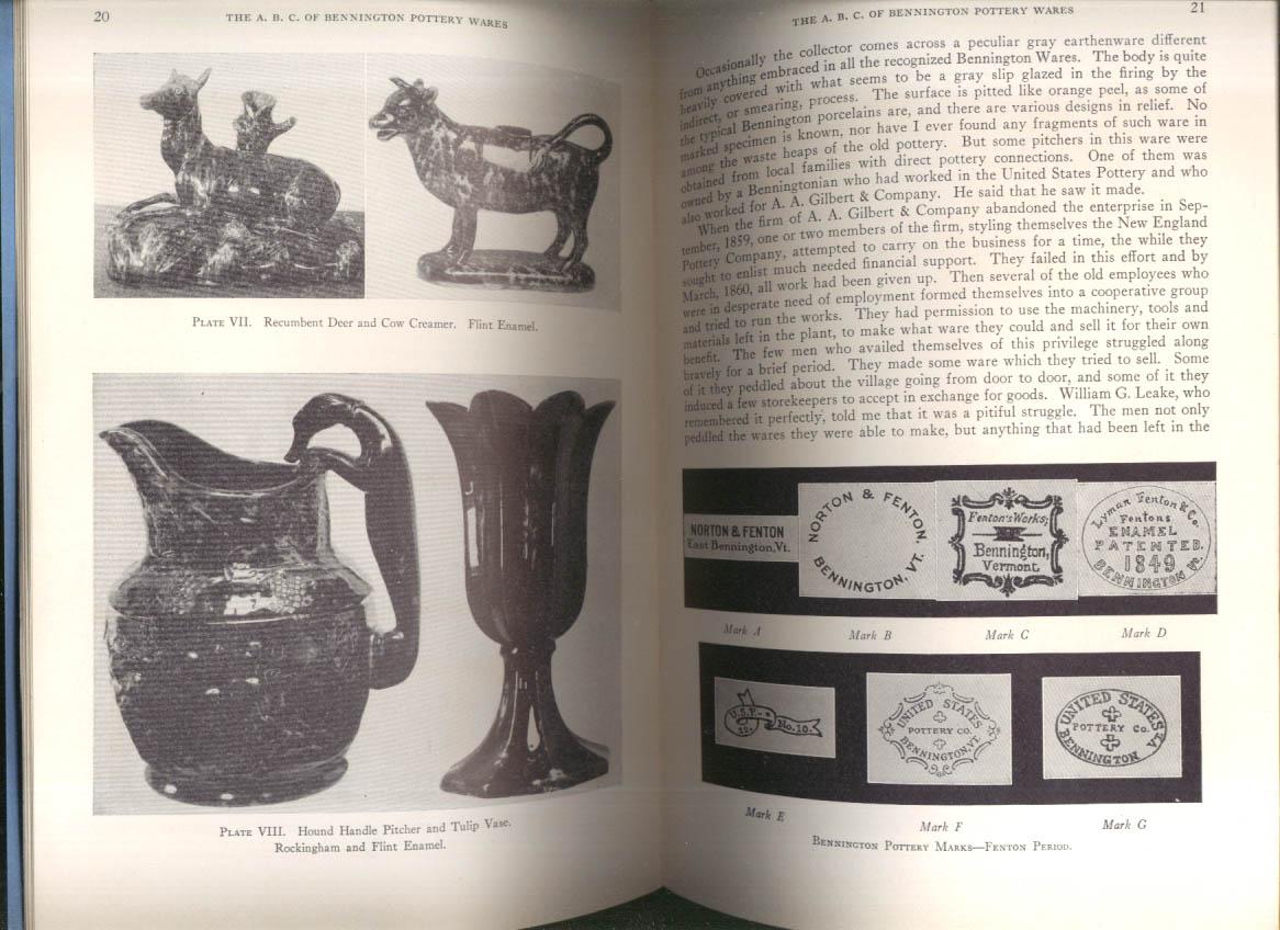 Spargo: The A B C of Bennington Pottery Wares Manual 1938
