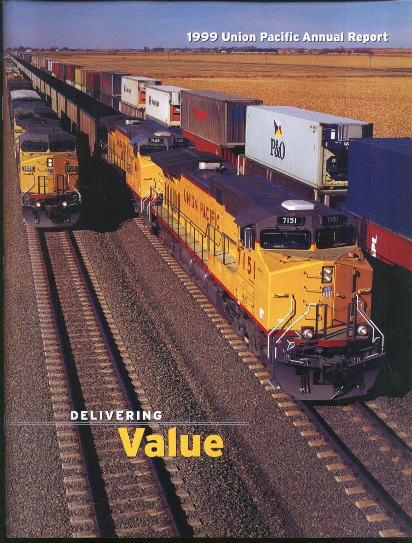 Union Pacific Railroad Annual Report 1999