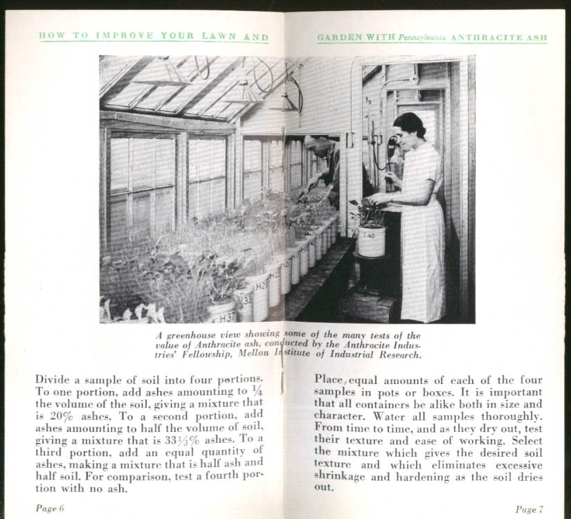 Improve Your Lawn with Pennsylvania Anthracite Ash booklet 1939