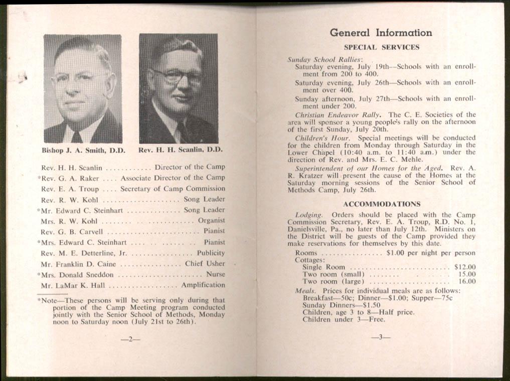 Rev Haggai Waldheim Camp Meeting program Allentown PA 1958