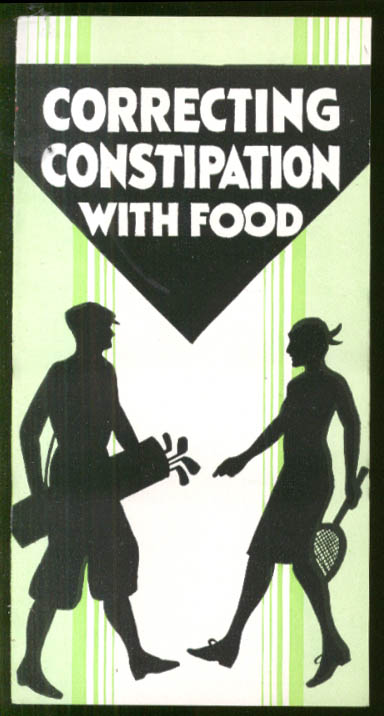 Correcting Constipation with Food Laxofood Anabolic Food Products folder 1930s