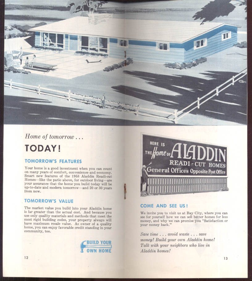 Exciting New Aladdin Readi-Cut Homes for 1958 catalog