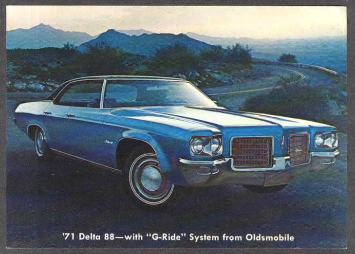 1971 Oldsmobile Delta 88 jumbo dealer postcard