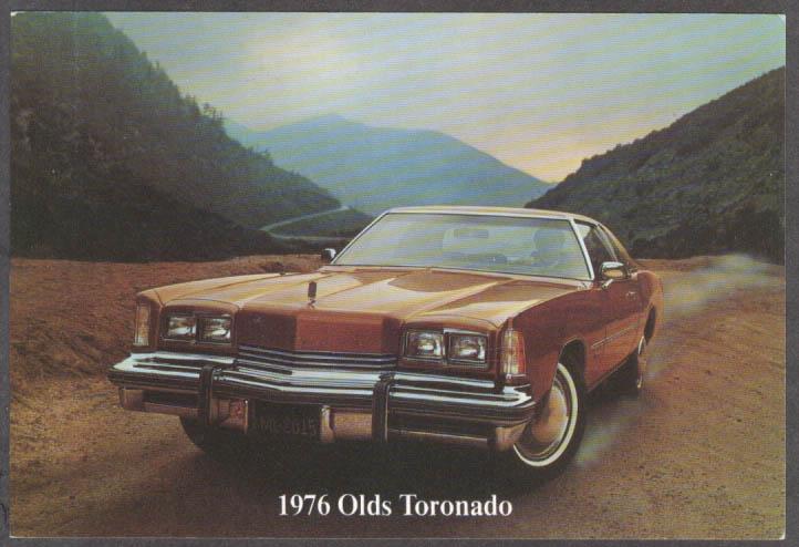 1976 Oldsmobile Toronado jumbo dealer postcard
