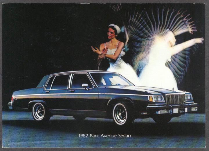 1982 Buick Park Avenue Sedan jumbo dealer postcard