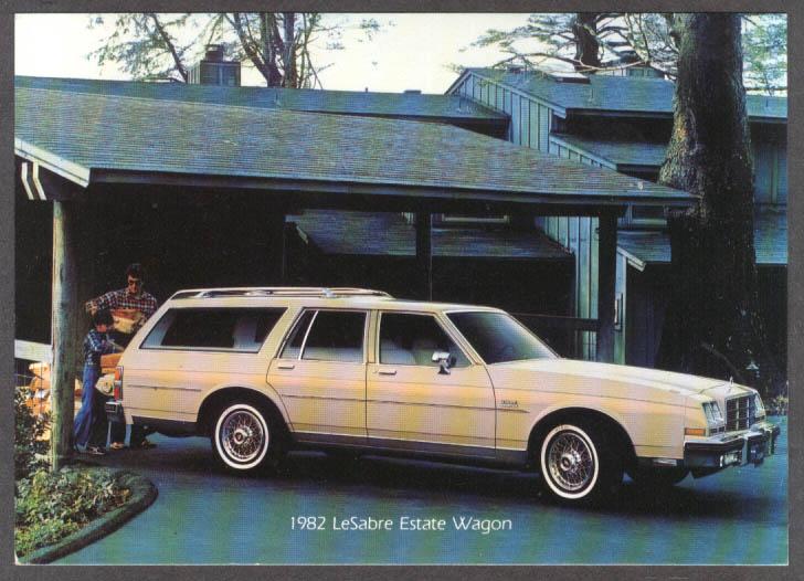 1982 Buick LeSabre Estate Wagon jumbo dealer postcard