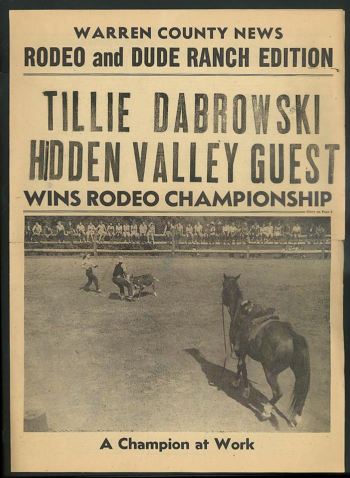 Tillie Dabrowski Hidden Valley Guest Warren Cty News Dude Ranch ed 1950s