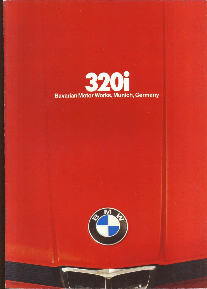 BMW 320i Sales Brochure 2 1978