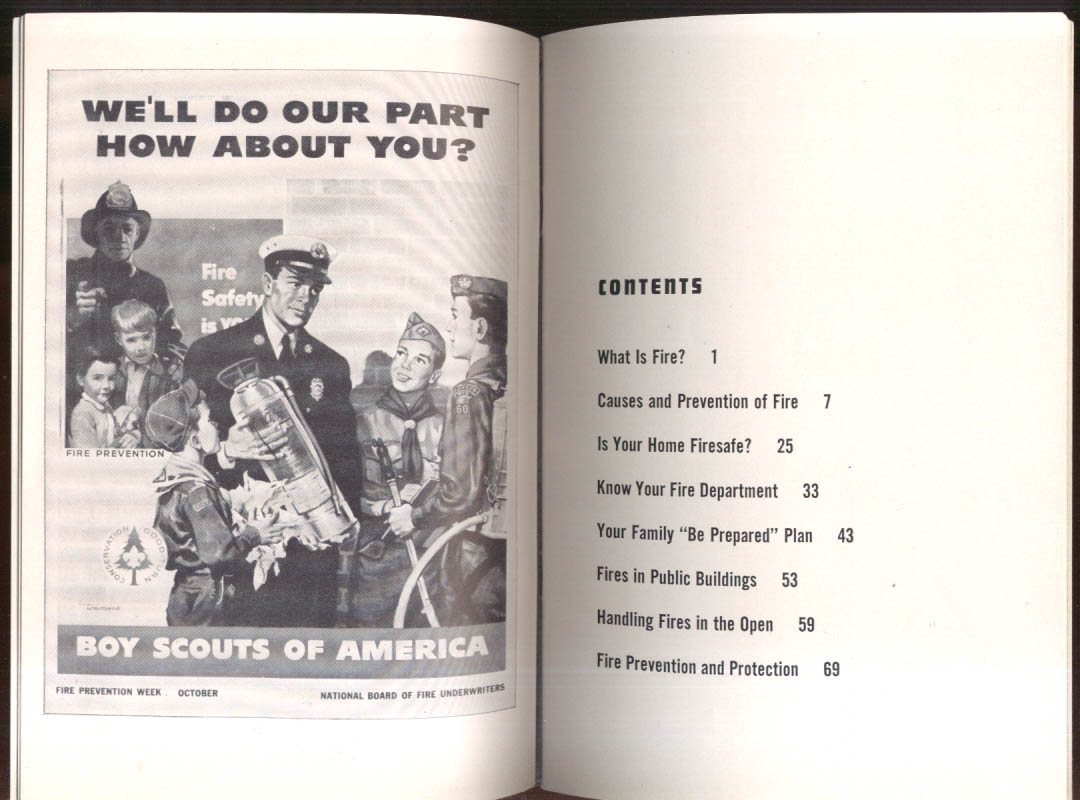 Boy Scouts of America Firemanship Merit Badge Guide & application 1958