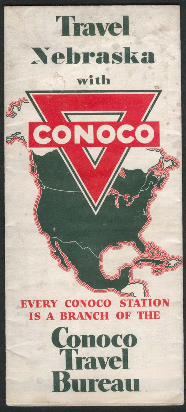 Conoco road map Nebraska 1936