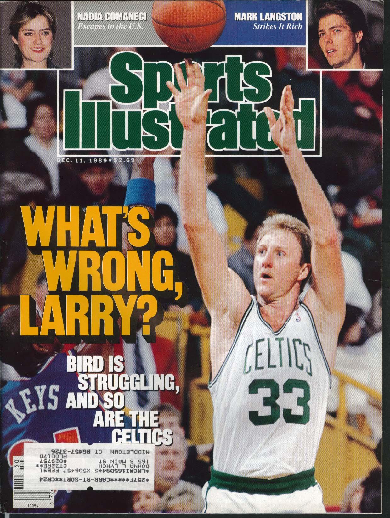 SPORTS ILLUSTRATED Larry Bird Nadia Comaneci Mark Langston 12/11 1989
