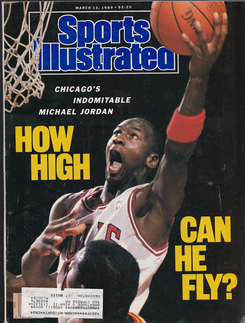 SPORTS ILLUSTRATED Michael Jordan Bob Knight Andre Agassi Warley 3/13 1989