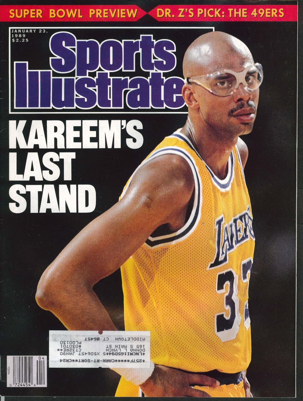 SPORTS ILLUSTRATED Kareem Abdul Jabbar Steve Jones Bob Hope 1/23 1989