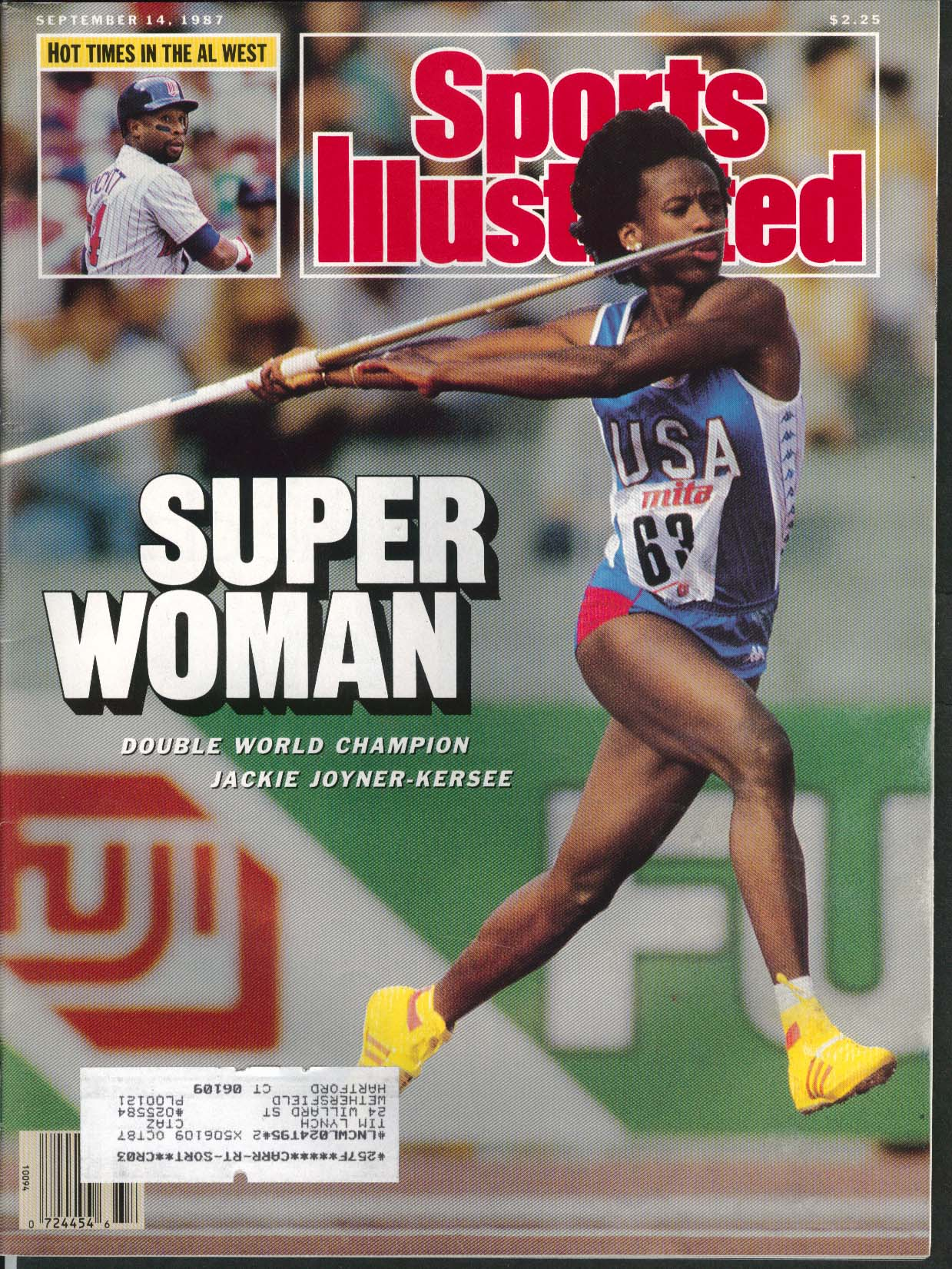 SPORTS ILLUSTRATED Jackie Joyner-Kersee Bob Johnson Bobby Thomson 9/14 1987