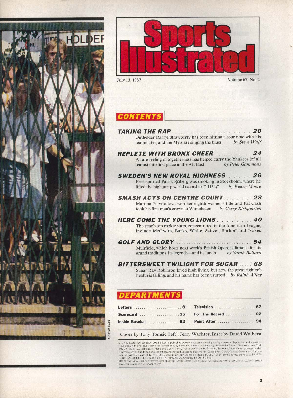 SPORTS ILLUSTRATED Darryl Strawberry Don Mattingly Martina Navratilova 7/13 1997