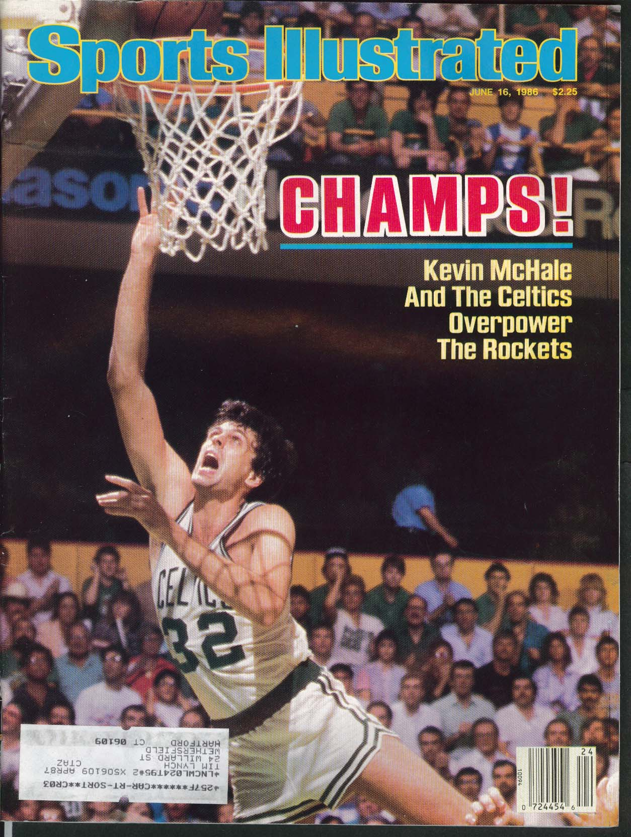 SPORTS ILLUSTRATED Kevin McHale Katy Ormsby Mikael Pernfors Ivan Lendl 6/16 1986