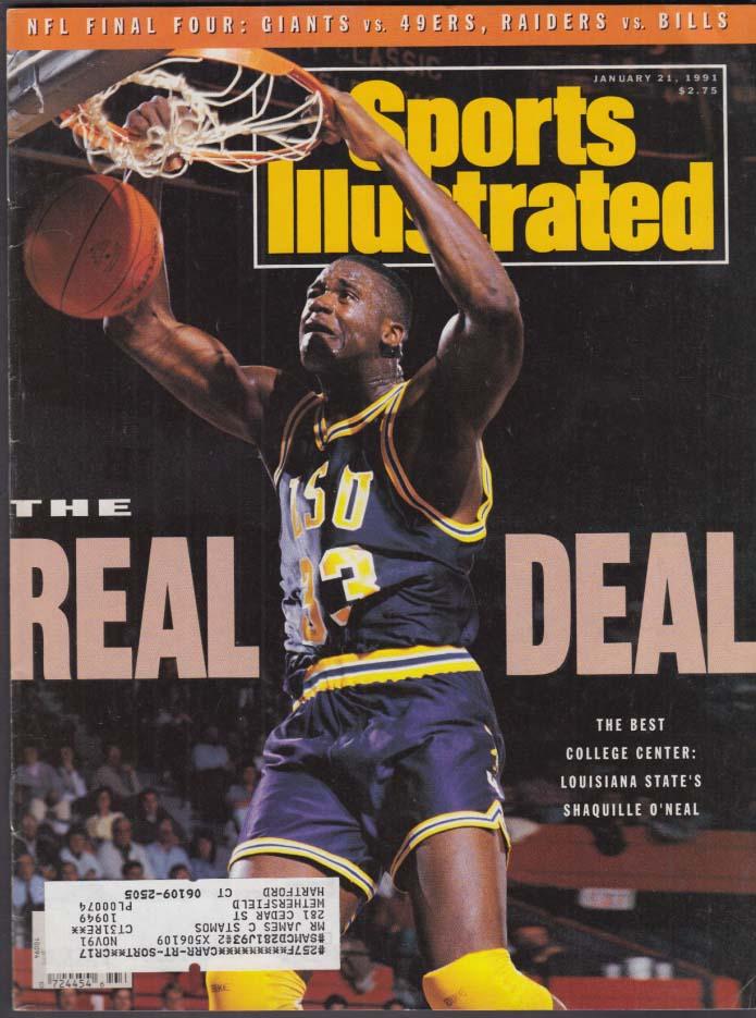 SPORTS ILLUSTRATED Shaq Shaquille O'Neal Ben Johnson Bernard King 1/21 1991