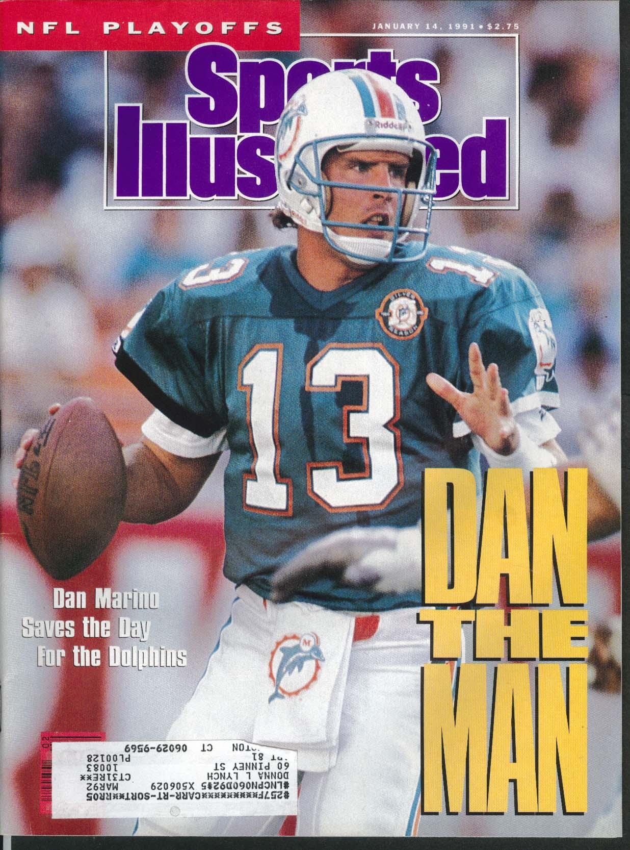 SPORTS ILLUSTRATED Dan Marino Randall Cunningham Tom Kite Ricky Pierce 1/14 1991