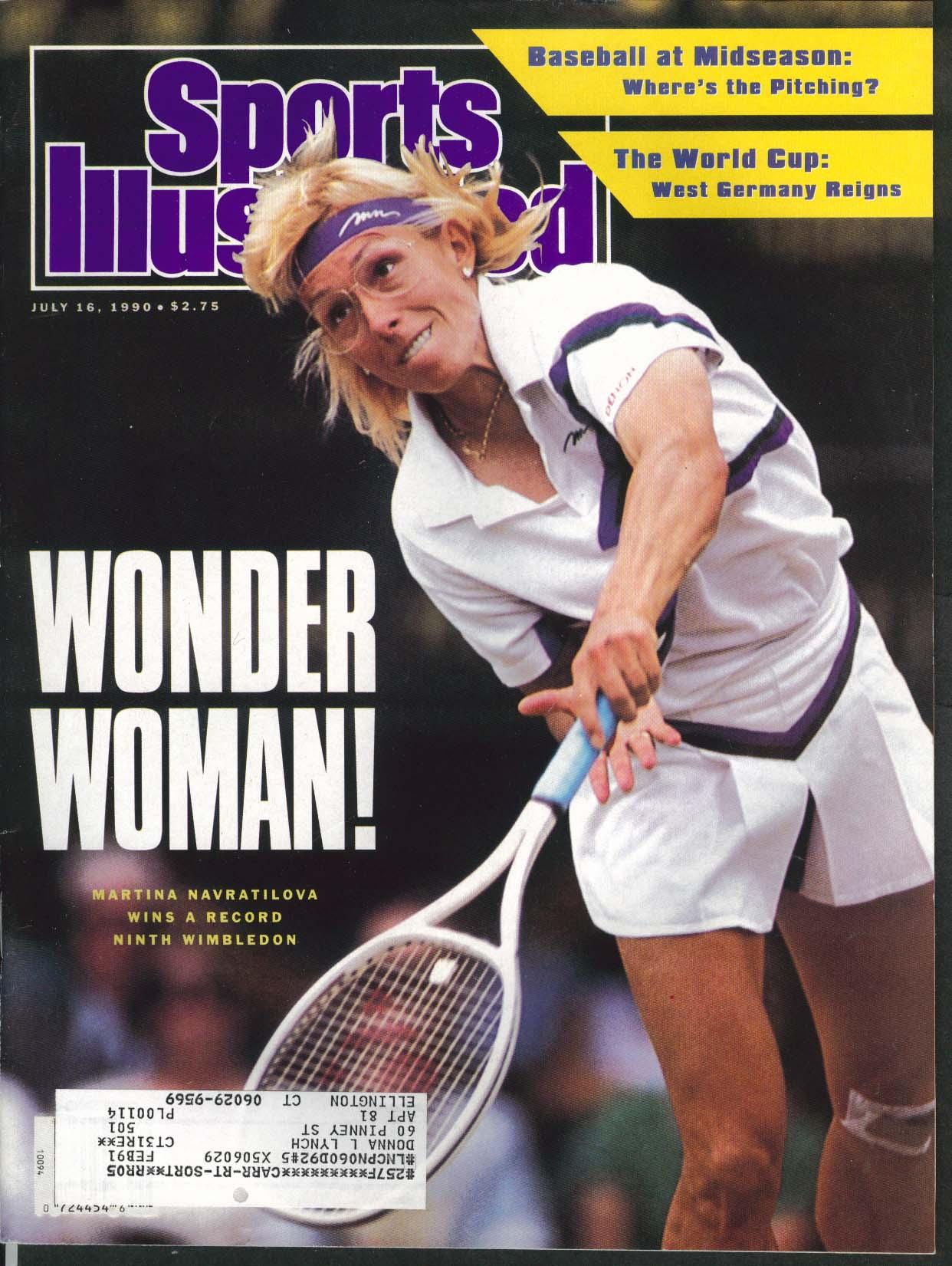 SPORTS ILLUSTRATED Martina Navratilova Dan Quayle Dean Beman 7/16 1990