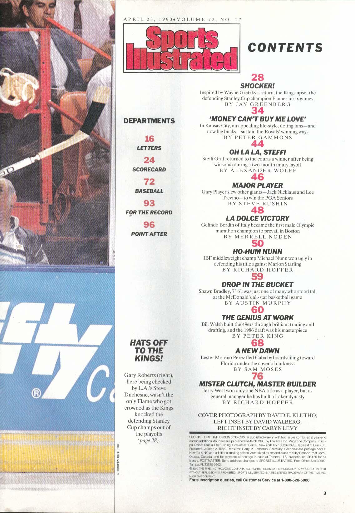 SPORTS ILLUSTRATED Tomas Sandstrom Gretzky Bo Jackson Steffi Graf 4/23 1990