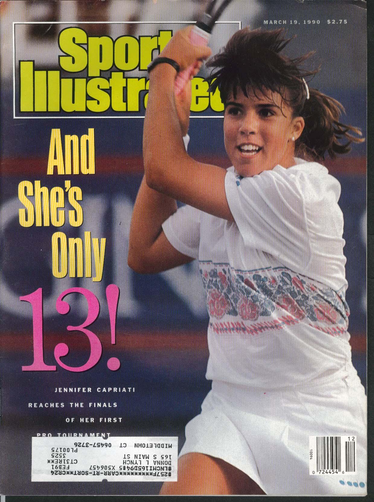 SPORTS ILLUSTRATED Jennifer Capriati Chris Couch Jill Trenary 3/19 1990