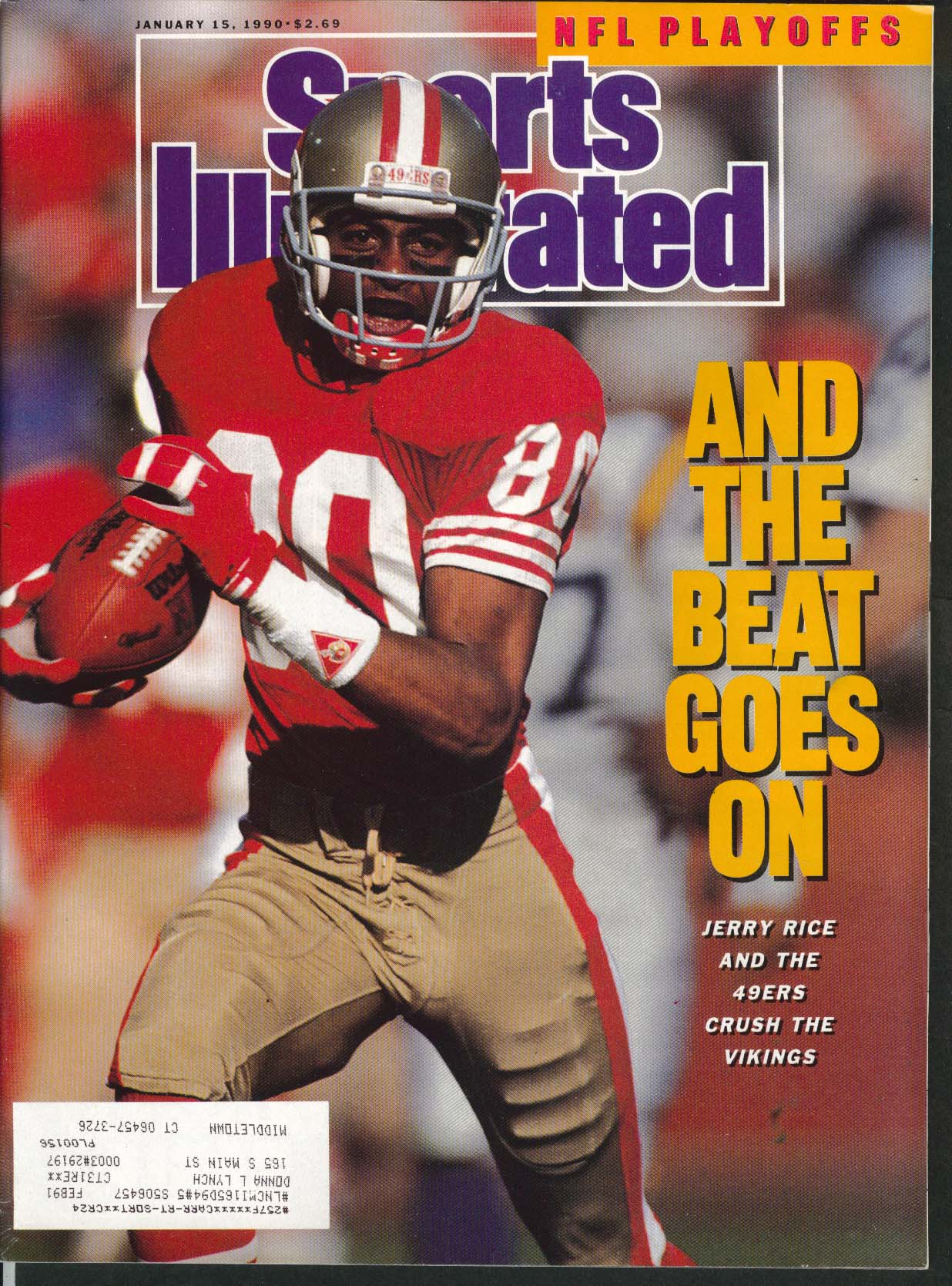 SPORTS ILLUSTRATED Jerry Rice Joe Montana Buck Williams Lionel Simmons 1/15 1990