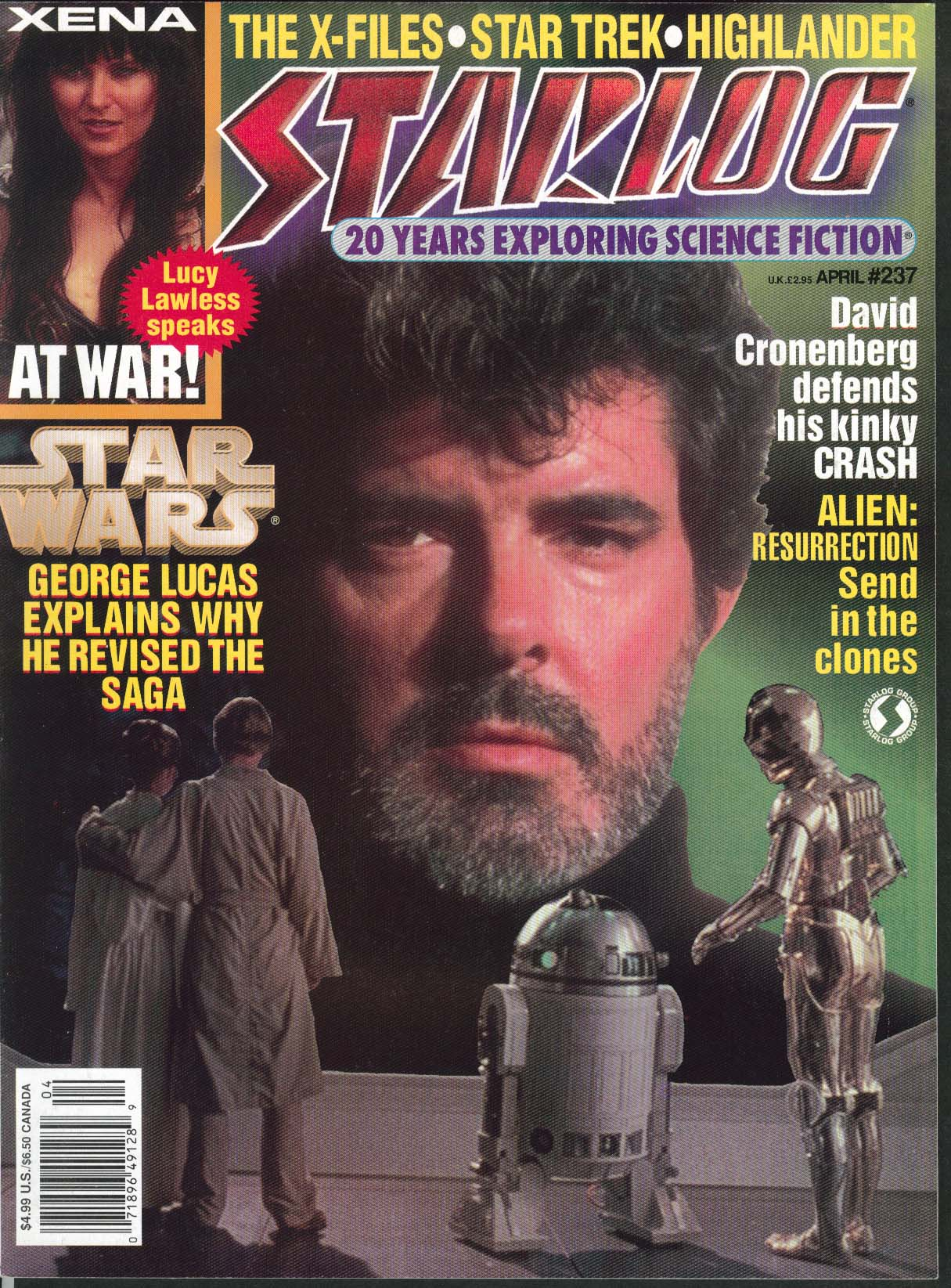 STARLOG #237 George Lucas Special Edition Han Shot First David Cronenberg 4 1997