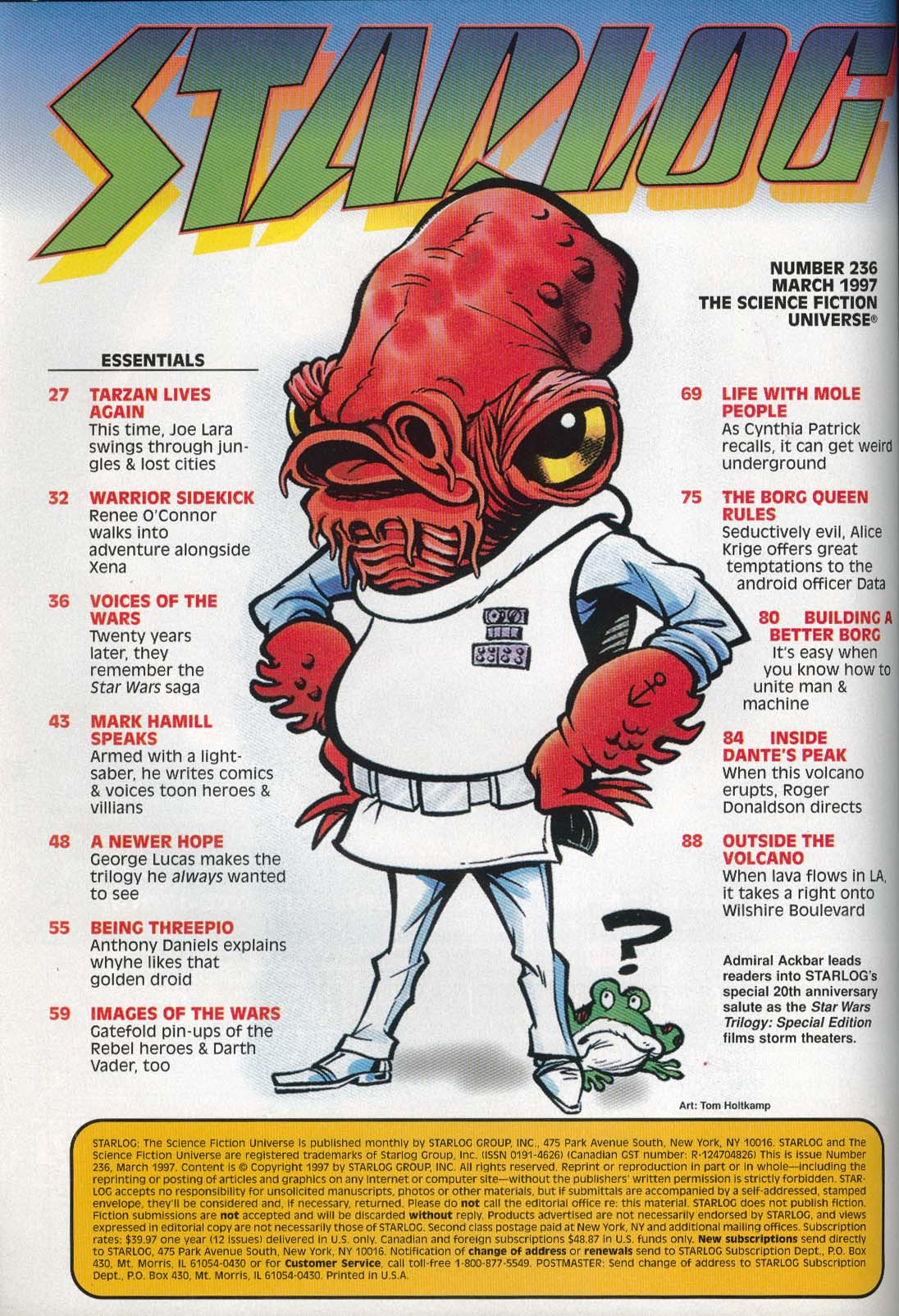 STARLOG #236 Star Wars Mark Hamill Anthony Daniels Trek First Contact 3 1997