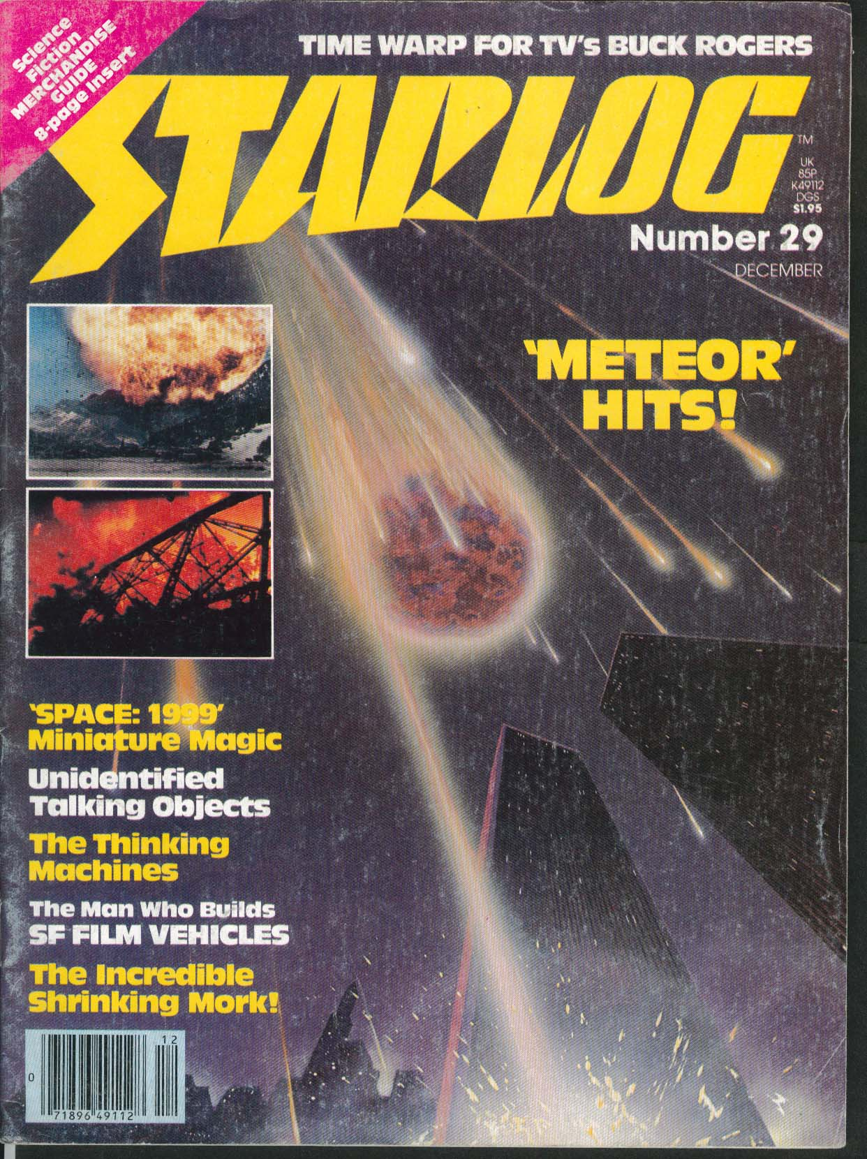 STARLOG #29 Meteor Ted Parvn Erin Gray Dean Jeffries Buster Crabbe 12 1979