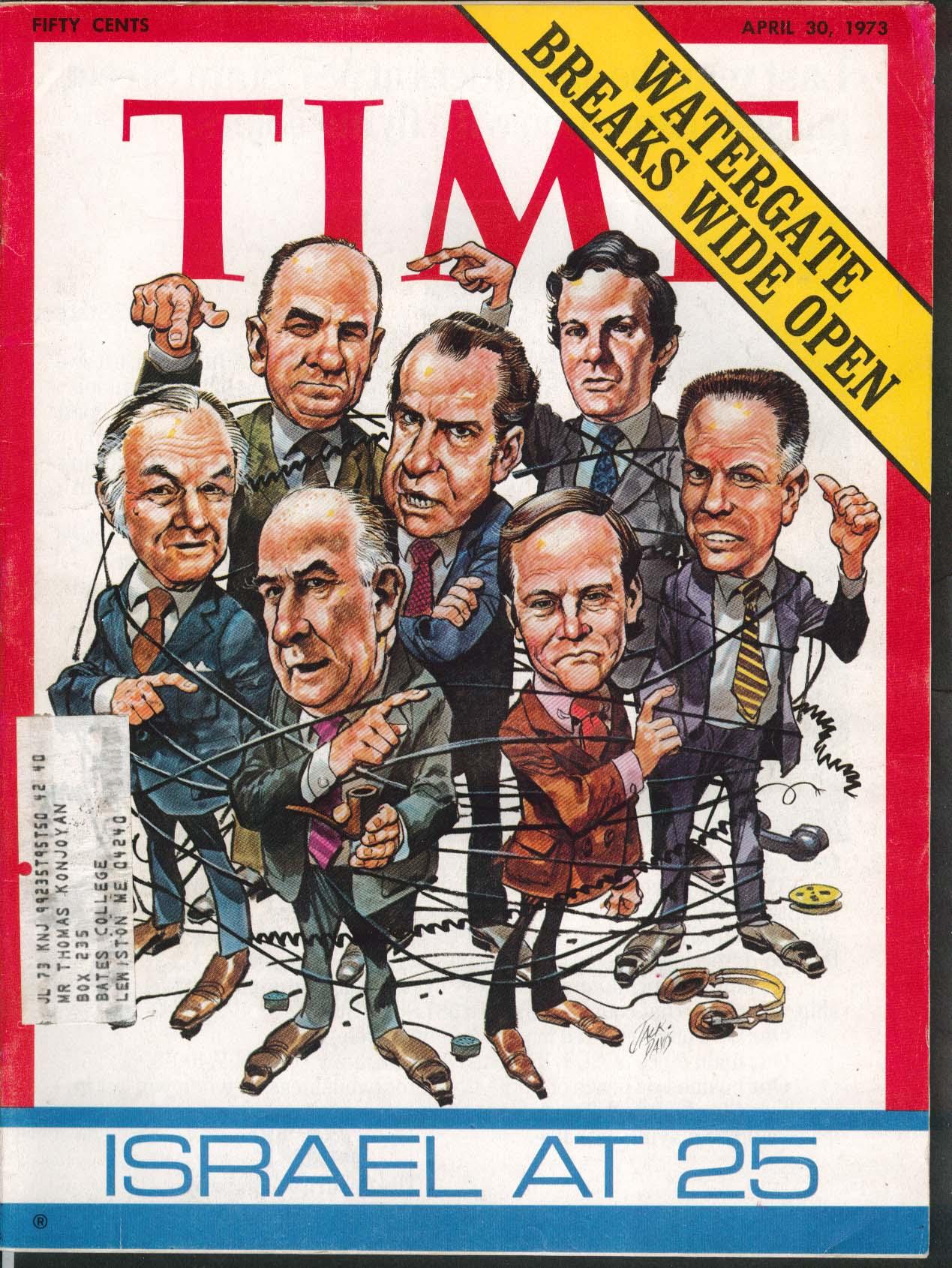 TIME Jack Davis Nixon Haldeman Gordon Liddy Watergate Israel color pix 4/30 1973