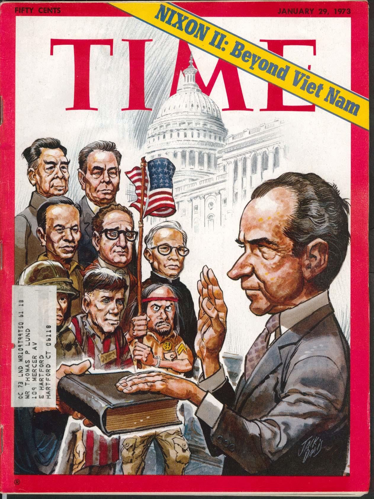 TIME Nixon Vietnam Kissinger Thieu Jack Davis Williamsburg Brooklyn 1/29 1973
