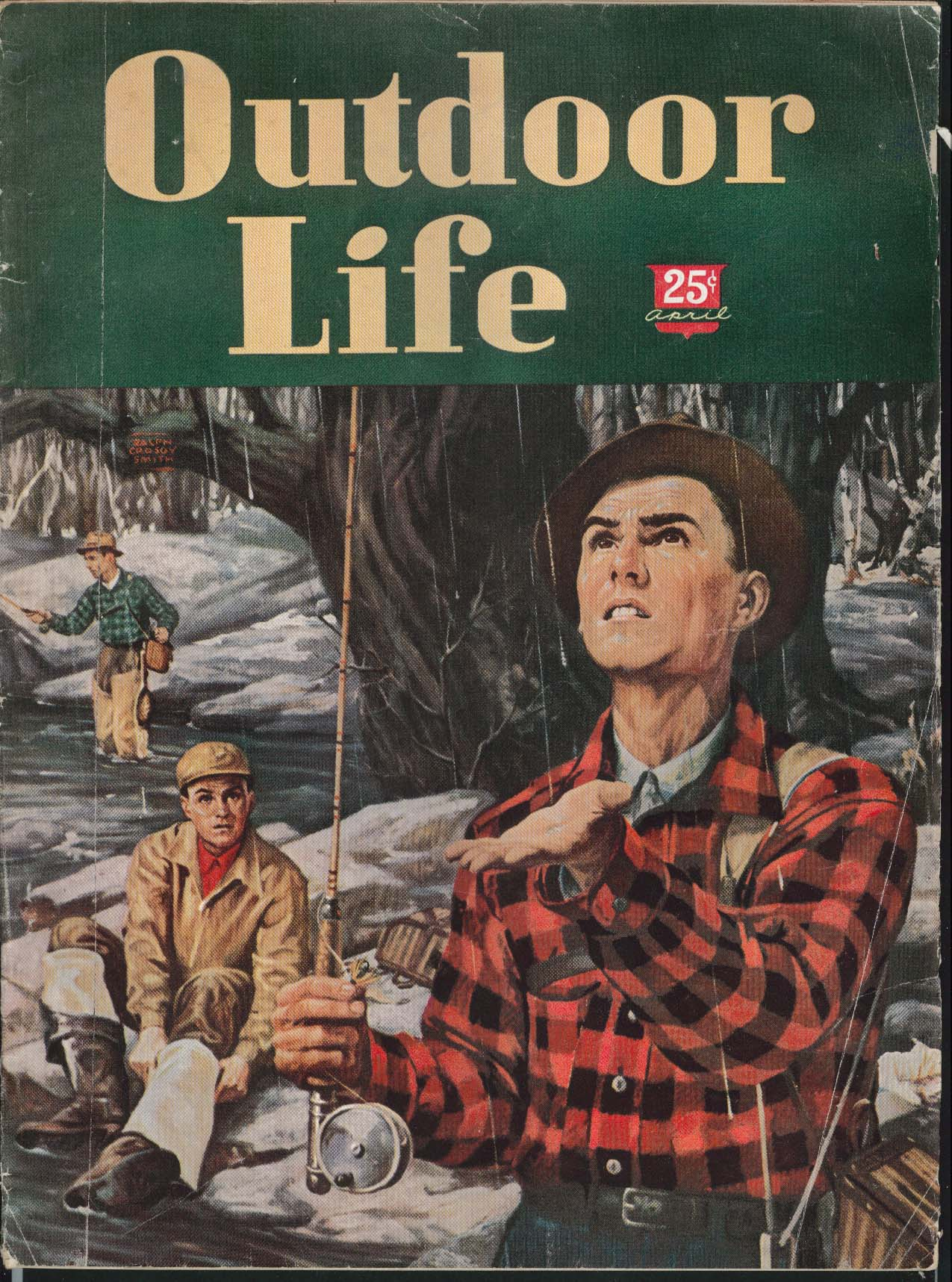 OUTDOOR LIFE Ducks Crows Ram Bass Hunting Accidents Stripers Moose 4 1947