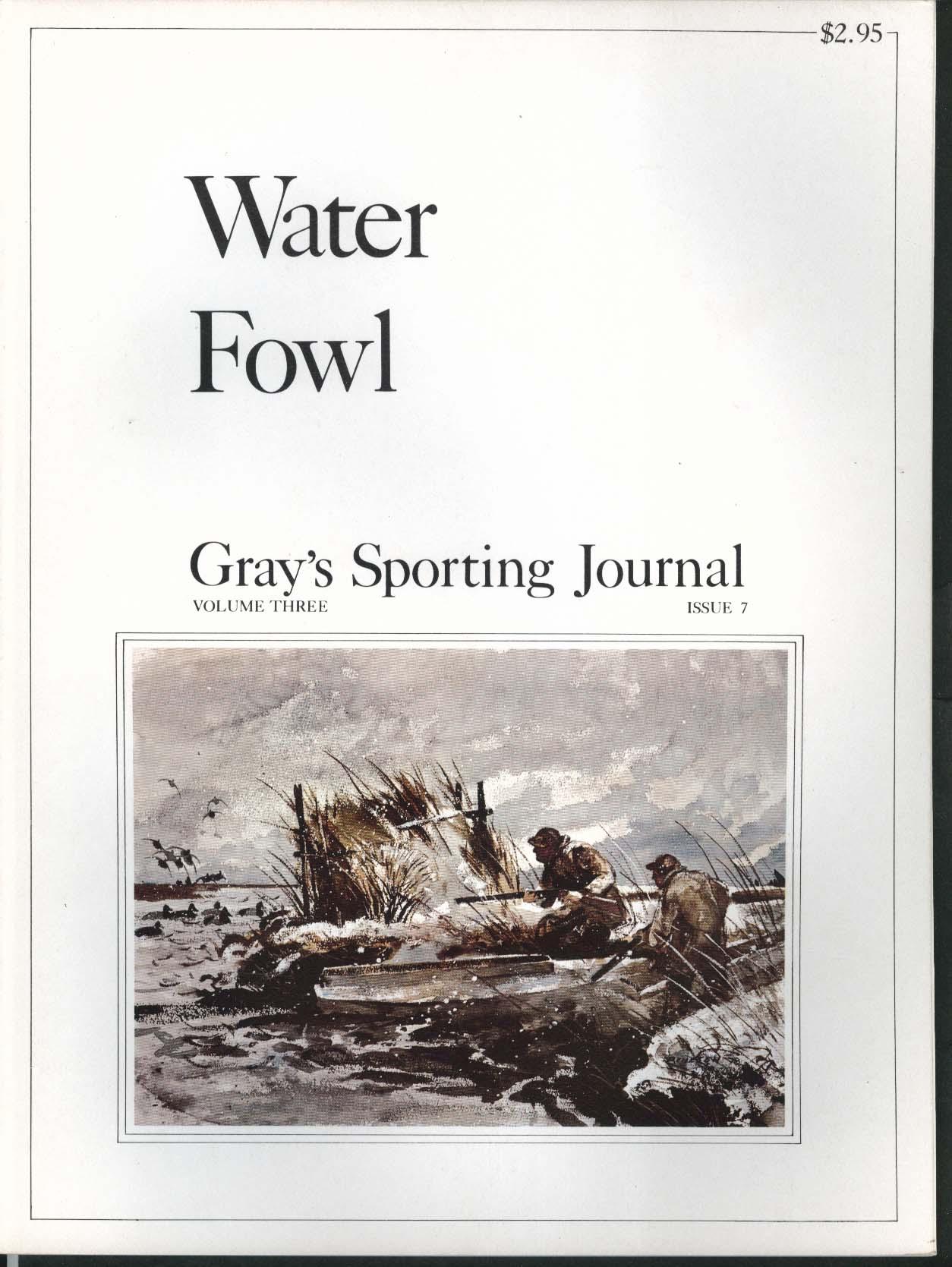 GRAY'S SPORTING JOURNAL Vol 3 #7 Water Fowl Black Brant Stewed Wild Duck 11 1978