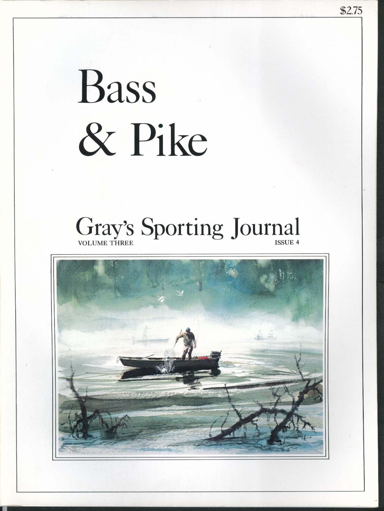 GRAY'S SPORTING JOURNAL Vol 3 #4 Bass & Pike Currituck St Johns 7 1978