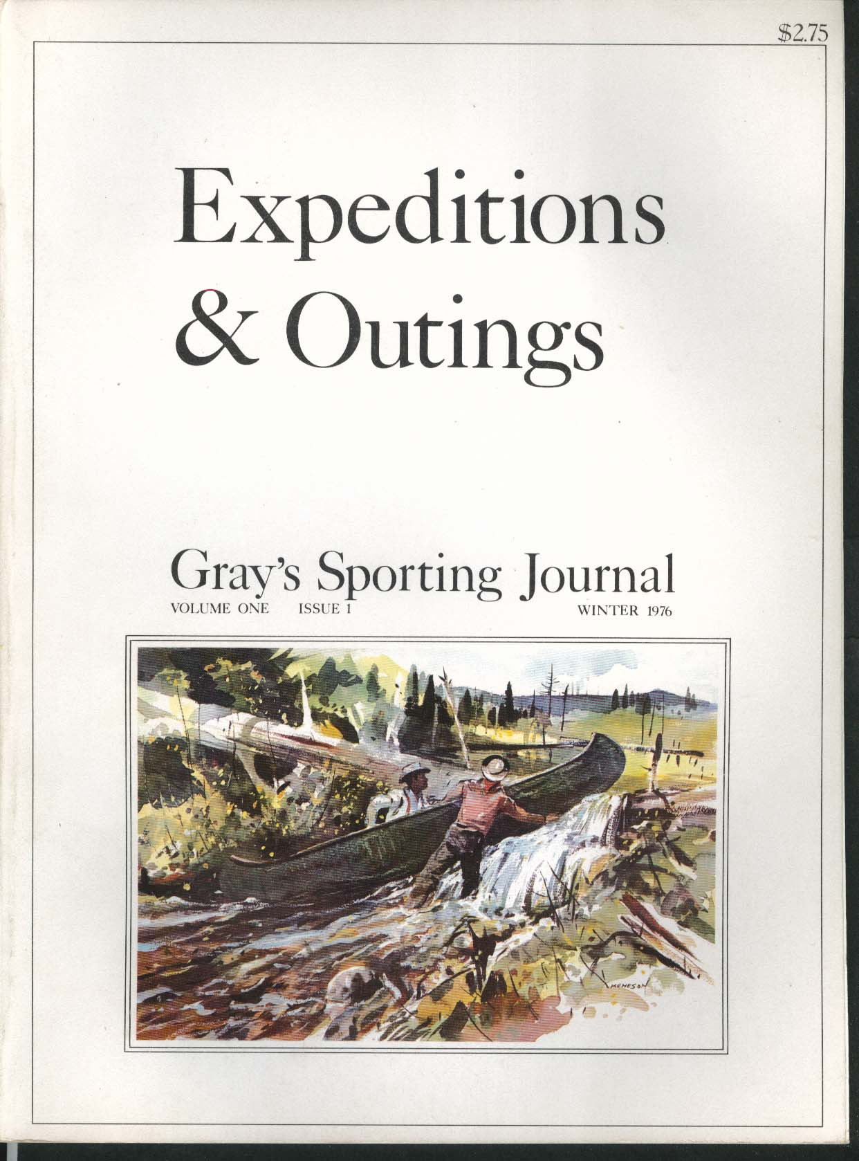 GRAY'S SPORTING JOURNAL Vol 1 #1 Expeditions & Outings Mike Wade Winter 1976