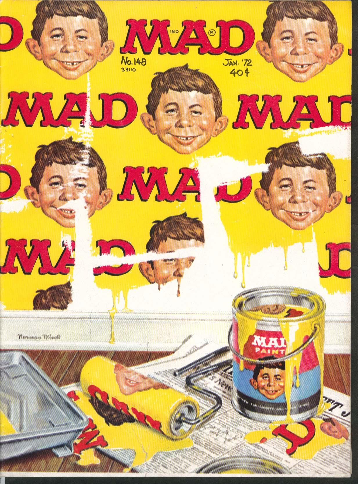MAD #148 Charlie Brown Schulz Peanuts Parody Summer of '42 Thanksgiving 1 1972