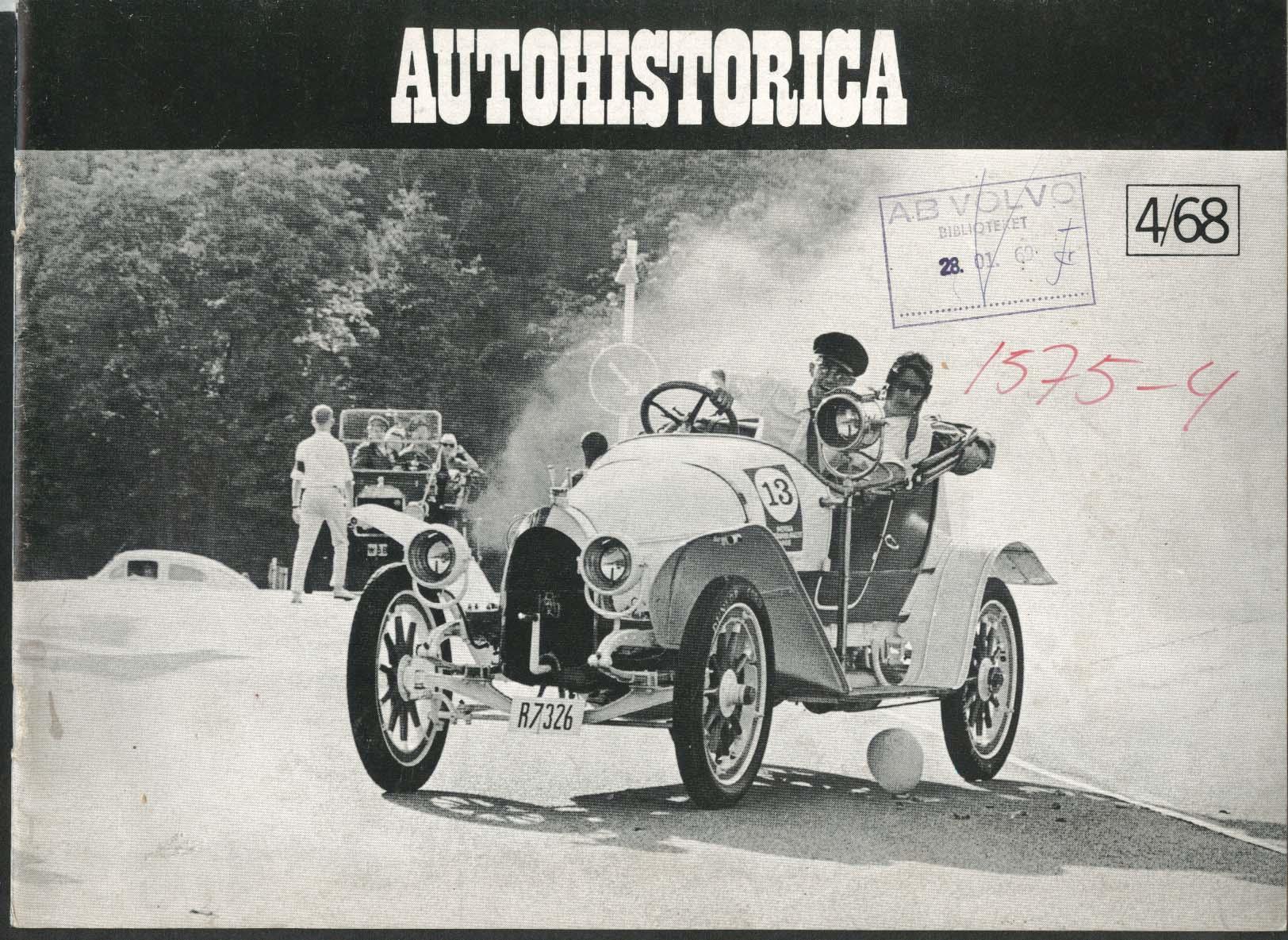 AUTOHISTORICA Skoklosterlopet Olympia Show Svenska Veteranbil-rallyt 4 1968