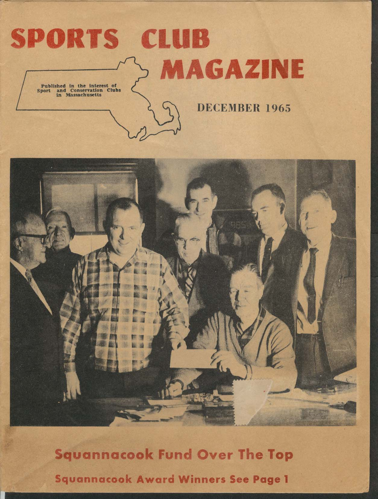 SPORTS CLUB MAGAZINE Squannacook Fund Bert Foss Lou Krouse 12 1965