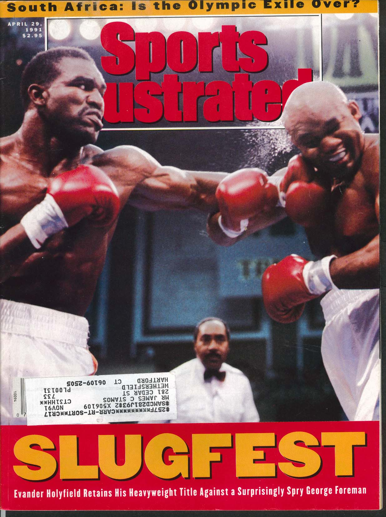 SPORTS ILLUSTRATED Evander Holyfield George Foreman Billie Jean King 4/29 1991