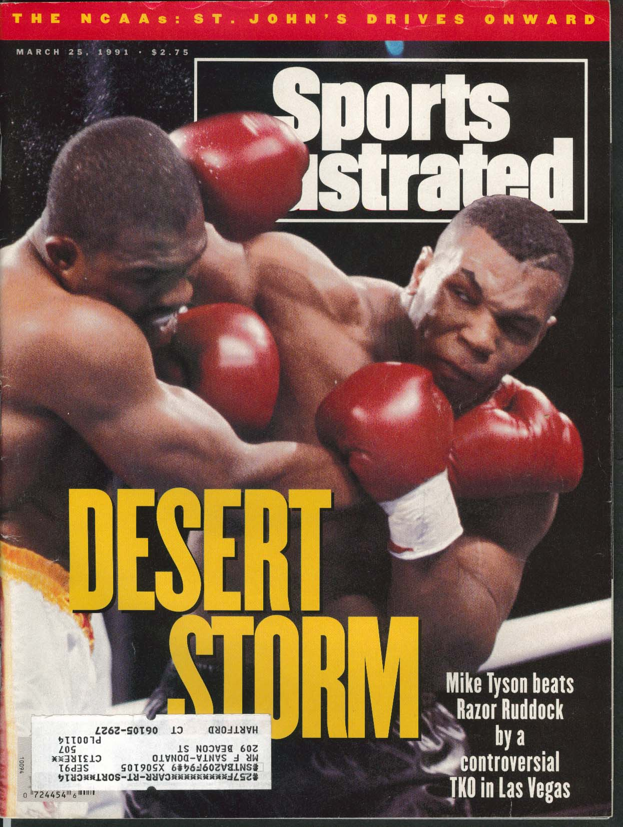 SPORTS ILLUSTRATED Mike Tyson Razor Ruddock Kristi Yamaguchi 3/25 1991
