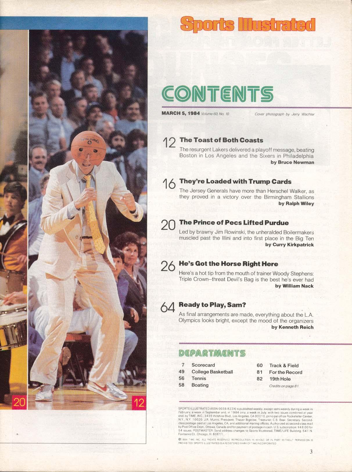 SPORTS ILLUSTRATED Magic Johnson Herschel Walker Jim Rowinski 3/5 1984