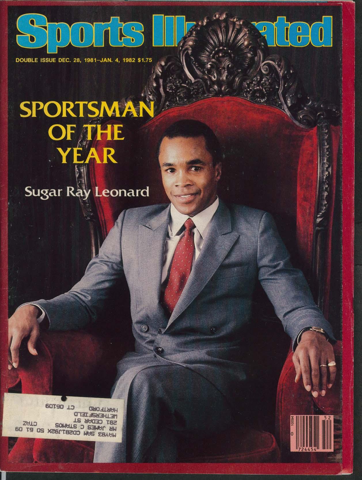 SPORTS ILLUSTRATED Sugar Ray Leonard Dwight Braxton Tracy Austin 1/4 1982