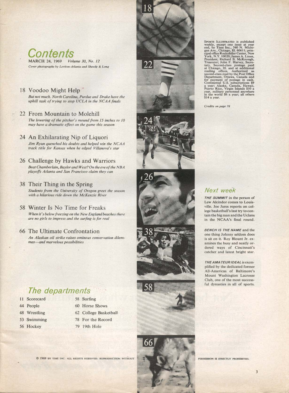 SPORTS ILLUSTRATED Richie Guerin Jeff Mullins Jim Ryan 3/24 1969