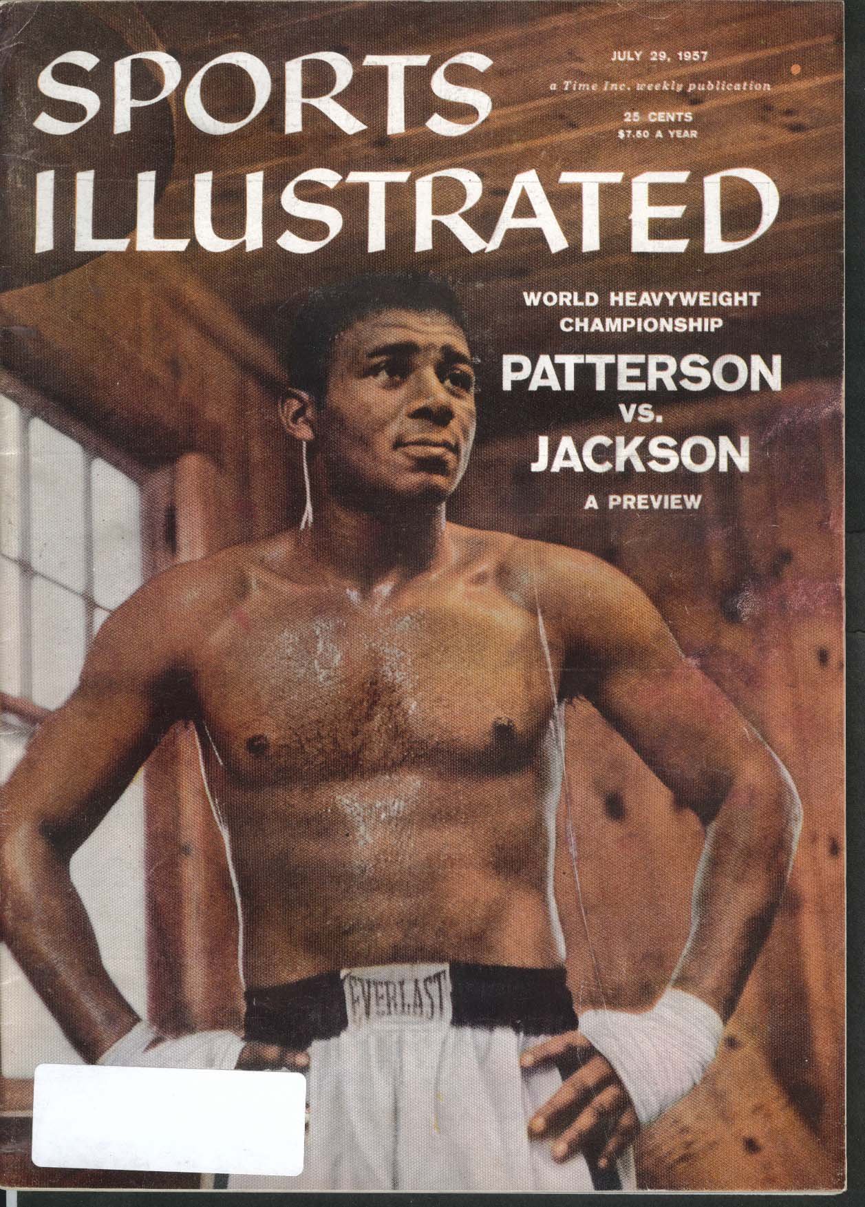 SPORTS ILLUSTRATED Floyd Patterson Big Pancho Paul Richards 7/29 1957