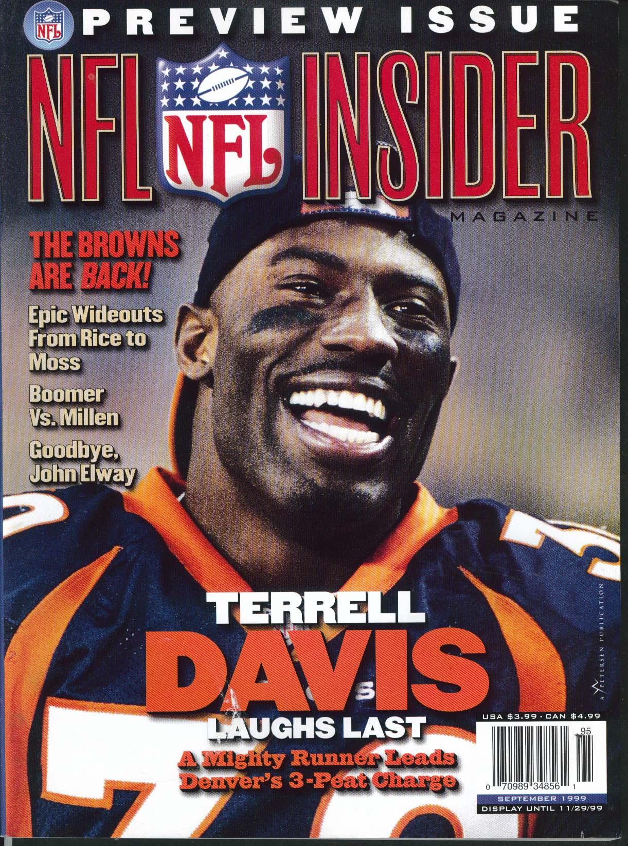 NFL INSIDER Terrell Davis Boomer Esiason Matt Millen John Elway 9 1999