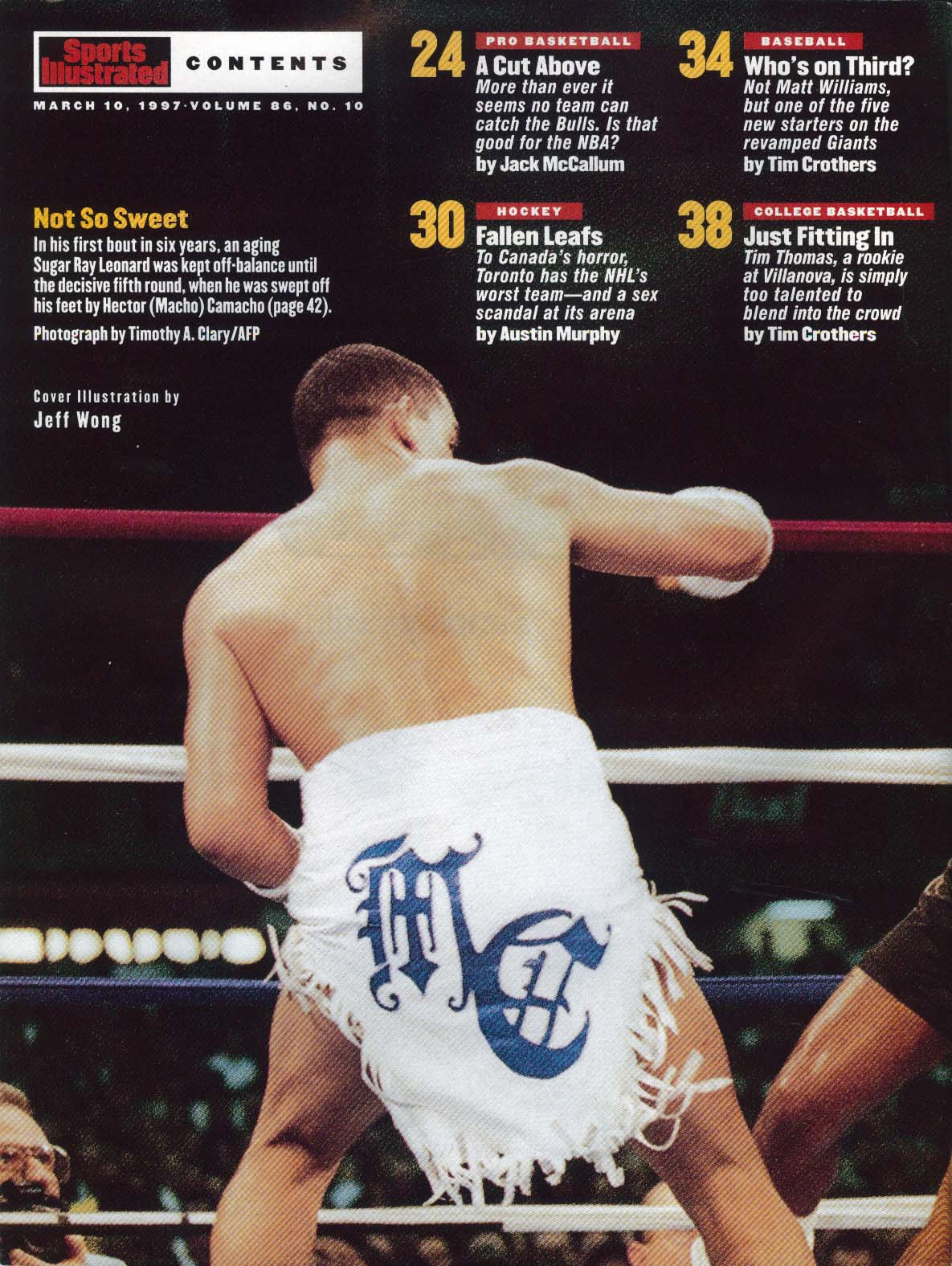 SPORTS ILLUSTRATED Michael Jordan Sugar Ray Leonard Hector Camacho ++ 3/10 1997