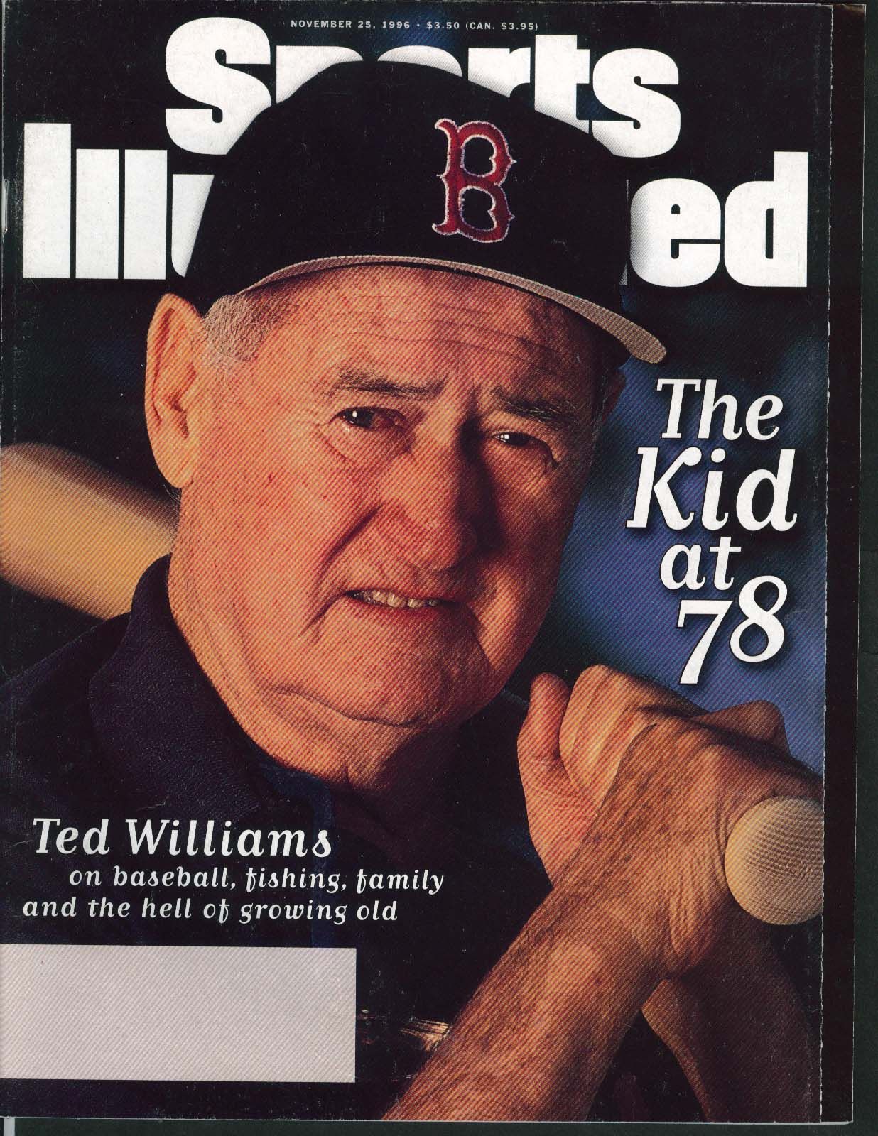 SPORTS ILLUSTRATED Ted Williams Andy Katzenmoyer Grant Hill 11/25 1996